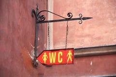 τουαλέτα σημαδιών Στοκ Φωτογραφίες