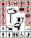 τουαλέτα συμβόλων του s Στοκ φωτογραφίες με δικαίωμα ελεύθερης χρήσης