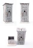 Τουαλέτα στην οδό χρήματα κιβωτίων χειροποίητο χειροποίητο αντικείμενο Στοκ φωτογραφία με δικαίωμα ελεύθερης χρήσης