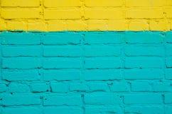 Τουβλότοιχος που χρωματίζεται Στοκ φωτογραφία με δικαίωμα ελεύθερης χρήσης