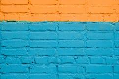 Τουβλότοιχος που χρωματίζεται Στοκ Εικόνα
