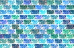 Τουβλότοιχος σύστασης για το μπλε υποβάθρου και το μπλε διανυσματική απεικόνιση