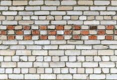 Τουβλότοιχος σύστασης του άσπρου τούβλου με ένα σχέδιο τούβλινου στοκ εικόνα