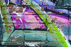 Τουβλότοιχος γκράφιτι Στοκ εικόνες με δικαίωμα ελεύθερης χρήσης