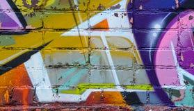 Τουβλότοιχος γκράφιτι Στοκ φωτογραφίες με δικαίωμα ελεύθερης χρήσης