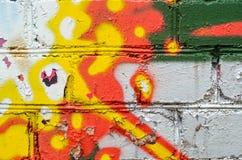 Τουβλότοιχος γκράφιτι Στοκ Φωτογραφία