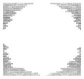 Τουβλότοιχος με την τρύπα που απομονώνεται στο άσπρο υπόβαθρο διανυσματική απεικόνιση