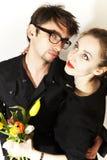 τουλίπες αγάπης ζευγών &alpha Στοκ φωτογραφία με δικαίωμα ελεύθερης χρήσης