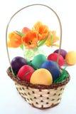 τουλίπες αυγών Πάσχας κα Στοκ Εικόνες
