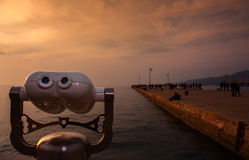 τουρίστας διοπτρών στοκ φωτογραφία