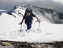 τουρίστας ορειβατών Στοκ Εικόνες