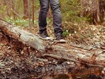 Τουρίστας ποδιών κινηματογραφήσεων σε πρώτο πλάνο Στοκ εικόνα με δικαίωμα ελεύθερης χρήσης