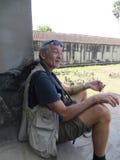 Τουρίστας σε Angor Wat, Καμπότζη Στοκ εικόνες με δικαίωμα ελεύθερης χρήσης