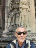 Τουρίστας σε Angor Wat, Καμπότζη Στοκ εικόνα με δικαίωμα ελεύθερης χρήσης