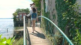 Τουρίστας σε Stresa απόθεμα βίντεο