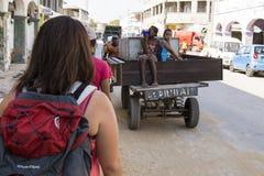 Τουρίστας σε Toliara, Μαδαγασκάρη Στοκ Εικόνα