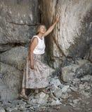 Τουρίστας στα βουνά Στοκ φωτογραφίες με δικαίωμα ελεύθερης χρήσης