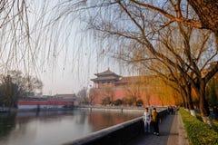 Τουρίστας στην απαγορευμένη πόλη Πεκίνο Κίνα Στοκ εικόνες με δικαίωμα ελεύθερης χρήσης