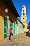 Τουρίστας στο γύρο πόλεων στο Τρινιδάδ Στοκ εικόνες με δικαίωμα ελεύθερης χρήσης