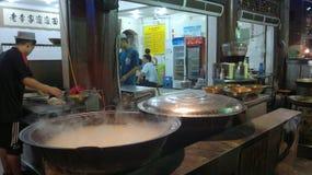 Τουρίστας ταξιδιού της Κίνας streetfood Στοκ φωτογραφίες με δικαίωμα ελεύθερης χρήσης