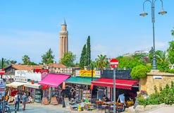 Τουρίστας bazaar σε Antalya Στοκ Φωτογραφία
