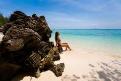 Τουρίστας Koh στο νησί Poda Στοκ φωτογραφία με δικαίωμα ελεύθερης χρήσης