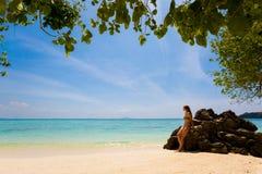 Τουρίστας Koh στο νησί Poda Στοκ Εικόνες