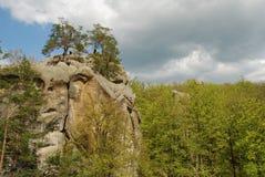 τουρίστες βράχων Στοκ Φωτογραφία