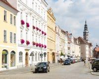 Τουρίστες η ιστορική παλαιά πόλη Görlitz στοκ εικόνα