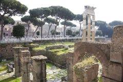 Τουρίστες που επισκέπτονται το ρωμαϊκό φόρουμ Στοκ Φωτογραφίες