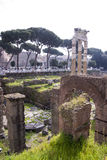 Τουρίστες που επισκέπτονται το ρωμαϊκό φόρουμ Στοκ Εικόνες
