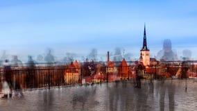 Τουρίστες στην πλατφόρμα εξέτασης Patkuli Στοκ εικόνα με δικαίωμα ελεύθερης χρήσης