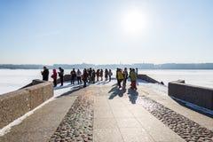 τουρίστες στη Αγία Πετρούπολη Στοκ φωτογραφία με δικαίωμα ελεύθερης χρήσης