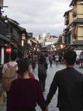 Τουρίστες στο Κιότο Στοκ φωτογραφία με δικαίωμα ελεύθερης χρήσης