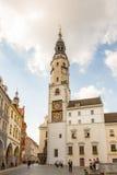 Τουρίστες στο παλαιό Δημαρχείο Görlitz στοκ εικόνες με δικαίωμα ελεύθερης χρήσης