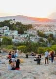 Τουρίστες στο Hill Areopagus Στοκ Εικόνα