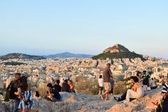 Τουρίστες στο Hill Areopagus Στοκ Φωτογραφία