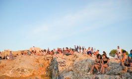Τουρίστες στο Hill Areopagus Στοκ εικόνες με δικαίωμα ελεύθερης χρήσης