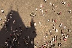 τουρίστες της Πράγας Στοκ φωτογραφίες με δικαίωμα ελεύθερης χρήσης