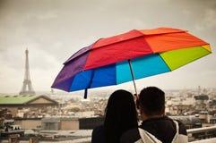 τουρίστες του Παρισιού Στοκ φωτογραφία με δικαίωμα ελεύθερης χρήσης