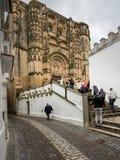 Τουρίστες Arcos de στο Λα Frontera κοντά στο Καντίζ Ισπανία Στοκ Φωτογραφίες
