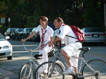 Τουρίστες Bicycling Στοκ Φωτογραφίες