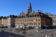 Τουρίστες Place du General De Gaulle στη Λίλλη, Γαλλία Στοκ Εικόνες