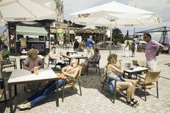 Τουρίστες Tibidabo Στοκ Εικόνα