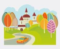 Τουρισμός αυτοκινήτων απεικόνιση αποθεμάτων