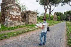Τουρισμός γύρω από την παλαιά πόλη της Ρώμης, Ιταλία Στοκ Εικόνες