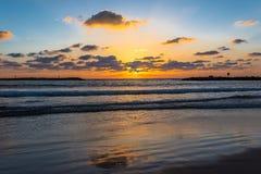 Τουρισμός ηλιοβασιλέματος θάλασσας, θάλασσα Στοκ Εικόνες