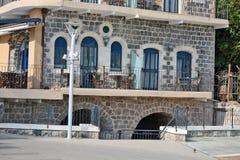 Τουρισμός και ξενοδοχεία σε Tiberias Στοκ Φωτογραφία