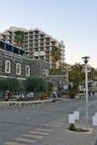 Τουρισμός και ξενοδοχεία σε Tiberias Στοκ Φωτογραφίες