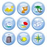 τουρισμός κουμπιών Στοκ Εικόνα